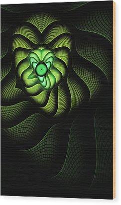 Fractal Cobra Wood Print by John Edwards