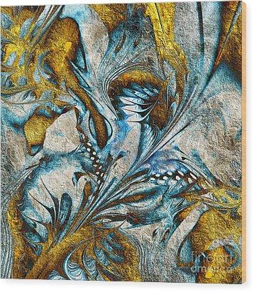 Wood Print featuring the digital art Fractal Design by Klara Acel