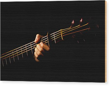 Wood Print featuring the photograph Fractal Frets by Cameron Wood