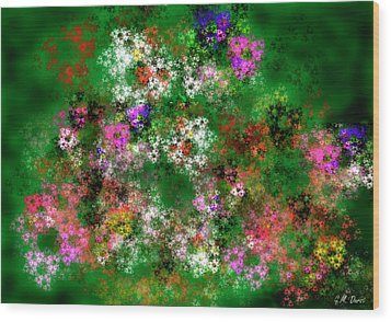 Fractal Garden Wood Print by Michael Durst