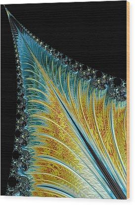 Wood Print featuring the digital art Fractal Leaf by Bill Barber