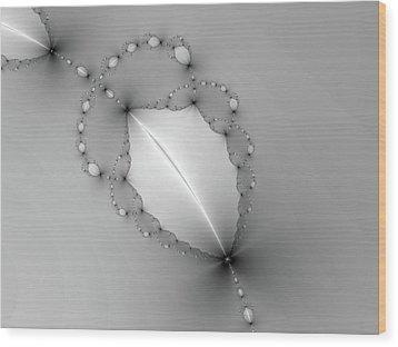 Wood Print featuring the digital art Fractal Leaf by Kathleen Holley