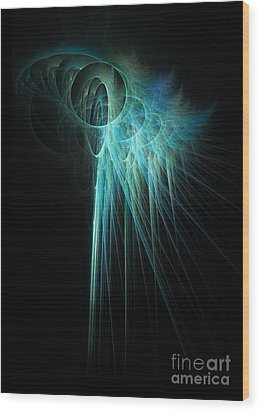 Fractal Rays Wood Print by John Edwards