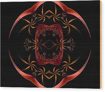 Fractal Symmetry Wood Print