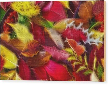 Wood Print featuring the photograph Fractalius Leaves by Shane Bechler