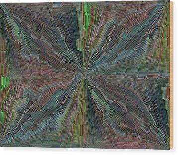 Fractured Frenzy Wood Print by Tim Allen