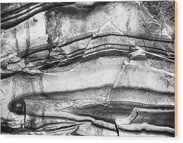 Wood Print featuring the photograph Fractured Rock by Onyonet  Photo Studios