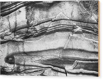 Fractured Rock Wood Print by Onyonet  Photo Studios