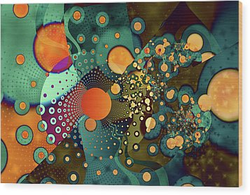 Fragmentation Wood Print by Frederic Durville