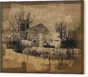 Fragmented Barn  Wood Print by Julie Hamilton
