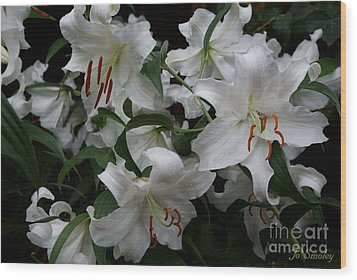 Fragrant Beauties Wood Print by Joanne Smoley