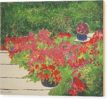 Fragrant Garden Wood Print