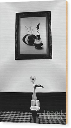 Frame And Flower Wood Print by Charuhas Images
