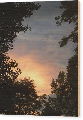Wood Print featuring the photograph Framed Fire In The Sky by Sandi OReilly