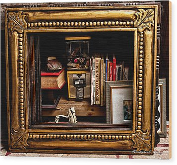 Framed Odds And Ends Wood Print by Christopher Holmes