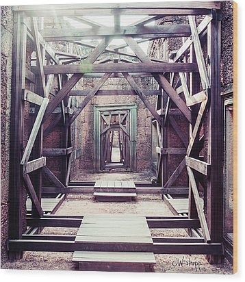 Wood Print featuring the photograph Framework by Joseph Westrupp