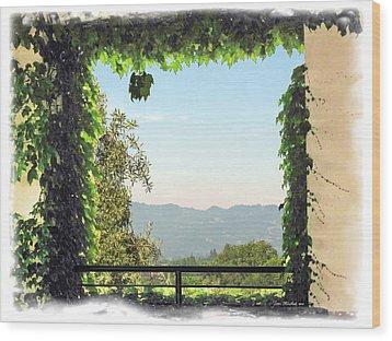 Wood Print featuring the photograph Framing Napa Valley by Joan  Minchak