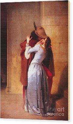 Francesco Hayez Il Bacio Or The Kiss Wood Print by Pg Reproductions