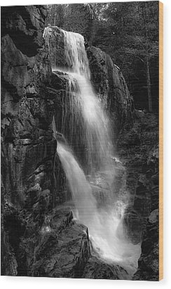 Franconia Notch Waterfall Wood Print by Jason Moynihan