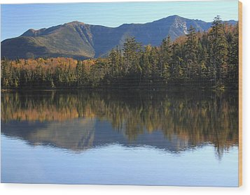 Franconia Ridge From Lonesome Lake Wood Print