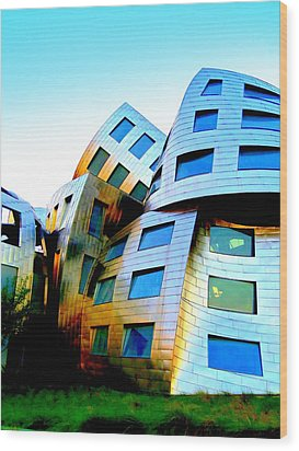 Frank Gehry 3 Wood Print by Randall Weidner