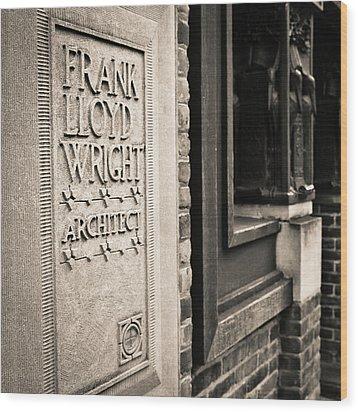 Frank Lloyd Wright's Studio Wood Print