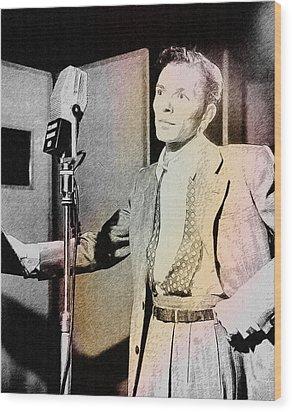 Frank Sinatra 1947 Wood Print by Ericamaxine Price
