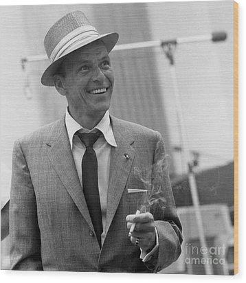 Frank Sinatra - Capitol Records Recording Studio #3 Wood Print