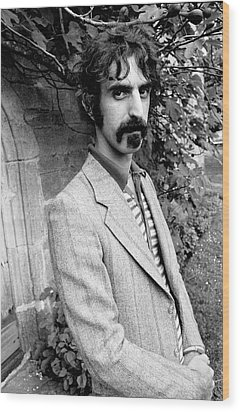 Frank Zappa 1970 Wood Print by Chris Walter