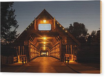 Frankenmuth Covered Bridge Wood Print