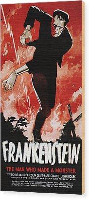 Frankenstein, Boris Karloff, 1931 Wood Print by Everett