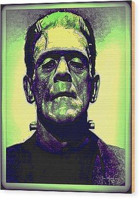 Frankenstein In Color Wood Print