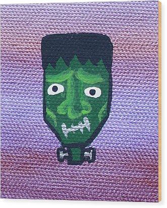 Frankenstein Wood Print by Jera Sky