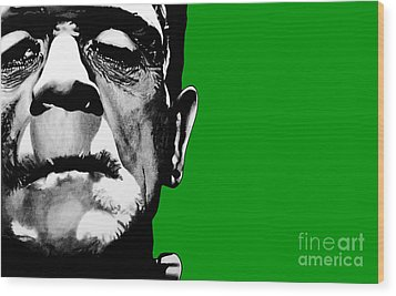 Frankenstein's Monster Signed Prints Available At Laartwork.com Coupon Code Kodak Wood Print by Leon Jimenez