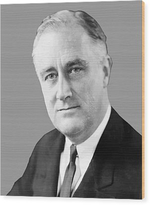 Franklin Delano Roosevelt Wood Print by War Is Hell Store