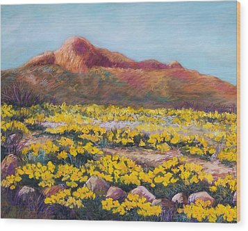 Franklin Poppies Wood Print by Candy Mayer