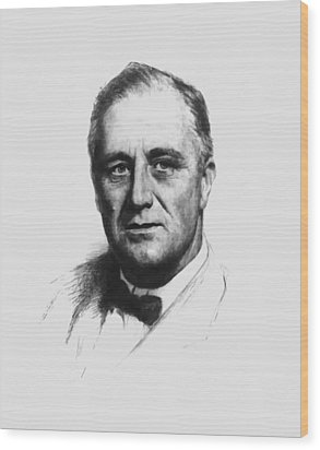 Franklin Roosevelt Wood Print by War Is Hell Store