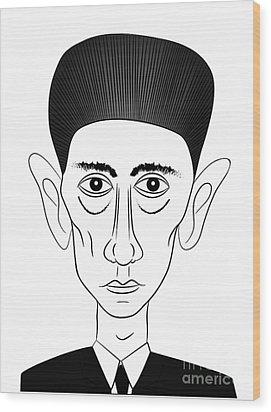 Franz Kafka Wood Print by Michal Boubin