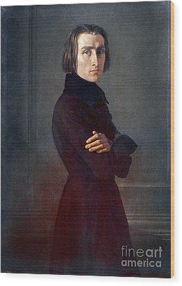 Franz Liszt (1811-1886) Wood Print by Granger
