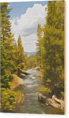 Frazier Creek Wood Print