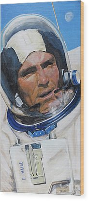Fred Haise Wood Print by Simon Kregar