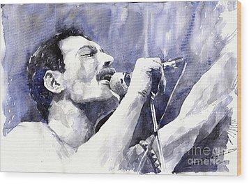 Freddie Mercury Wood Print by Yuriy Shevchuk