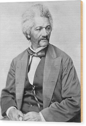 Frederick Douglass Wood Print by War Is Hell Store