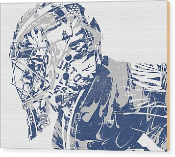 Frederik Andersen Toronto Maple Leafs Pixel Art 3 Wood Print