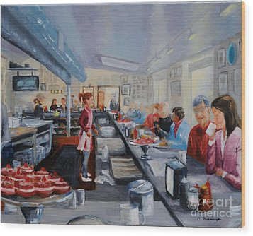 Fred's Breakfast Of New Hope Wood Print by Cindy Roesinger