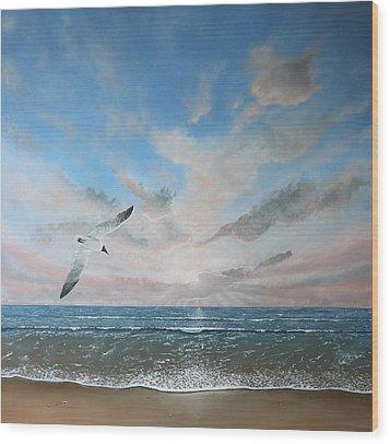 Free As A Bird Wood Print by Paul Newcastle