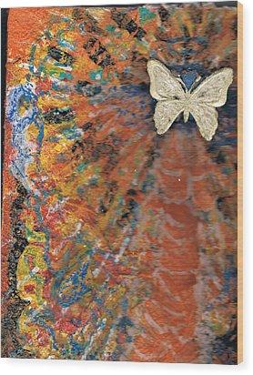 Freedom And Joy Wood Print by Anne-Elizabeth Whiteway