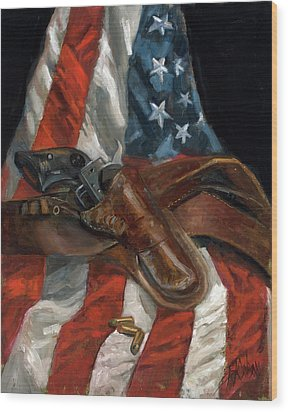 Wood Print featuring the painting Freedom by Billie Colson