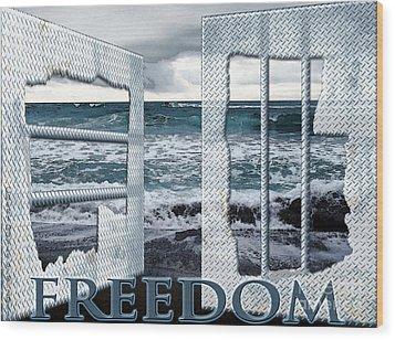 Freedom Wood Print by Cheri Doyle
