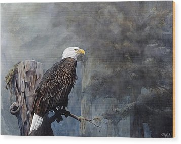 Freedom Haze Wood Print